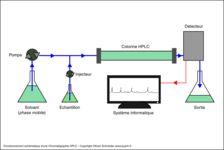 Fonctionnement schématique d'une chromatographie HPLC