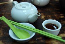 Puerh fermenté dansun salon de thé Hong Kongais