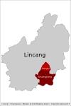 Shuangjiang et Mengku au sein de Lincang