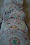 Galettes de puerh <span class='translation'>(Pu Er tea)</span> des années 90
