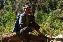 Un des gardiens du parc de Da Xue Shan