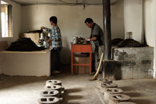 Petit atelier artisanal à Gong Nong Da Xue Shan