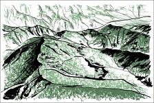 Vue du sommet de Da Xue Shan
