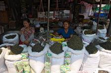 Puerh vert sur un marché en Birmanie