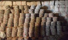 Stock de contrefaçon dans une usine spécialisée
