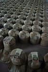 Sandals of puerh <span class='translation'>(Pu Er tea)</span> ready to be shipped (Baopuxuan, YiWu)