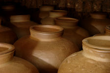 Large ceramic jars for the storage end of Mao Cha (Lincang)