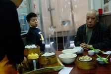 Cha Lou, very popular tea room where we eat a very long time of dark puerh <span class='translation'>(Pu Er tea)</span>