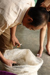 Zhai Guo Ting gouttant et achetant du maocha à un petit paysans local