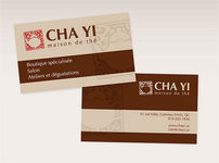 Card of the tea house Cha Yi (1)