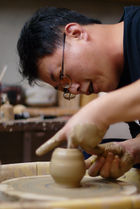 Lin Jianhong in his studio