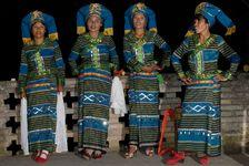 Femmes Bulang durant des festivités traditionnelles à Shuangjiang