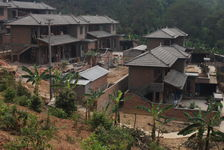 New houses under construction in Shan Zhai Kucong