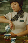 Gaiwan Gung fu Cha dans une célèbre tea house de Chengdu, Sichuan