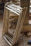 Cadre de bois fraîchement assemblé