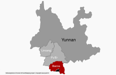 Le Xishuangbanna au sein du Yunnan