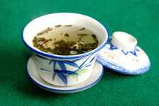 Personnes agées jouant au Mah Jong dans le salon de thé Wang Jiang Lou