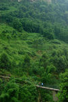 Petit pont dans les montagnes du Sichuan