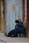 Personnes agées dans un village du Sichuan