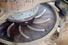Old typewriter each road in the village of Lao Banzhang