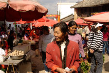 Market before New Year in a village in Lincang