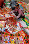 Posters to redecorate the house in a market Lincang