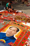 Mao always quotte among vendors posters for the new year