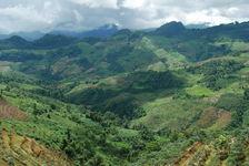 Mountain landscape in Yunnan